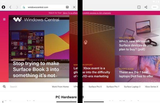 Microsoft Edge on Surface Duo