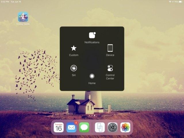 AssistiveTouch Menu-iPad
