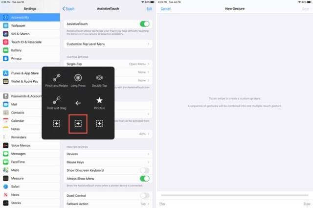 Customize AssistiveTouch Custom Button-iPad