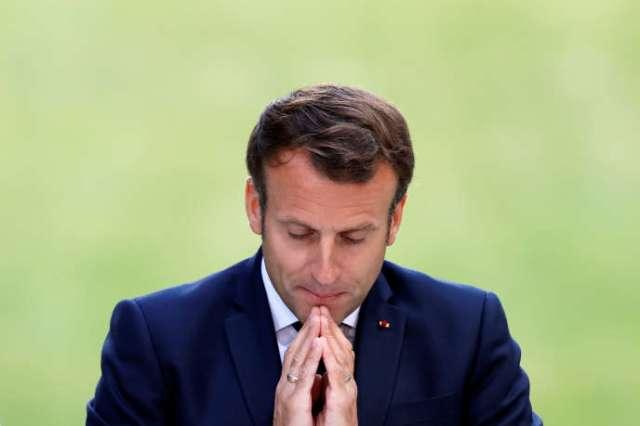 Emmanuel Macron livre un discours devant les membres de la convention citoyenne pour le climat à l'Elysée le 29 juin.