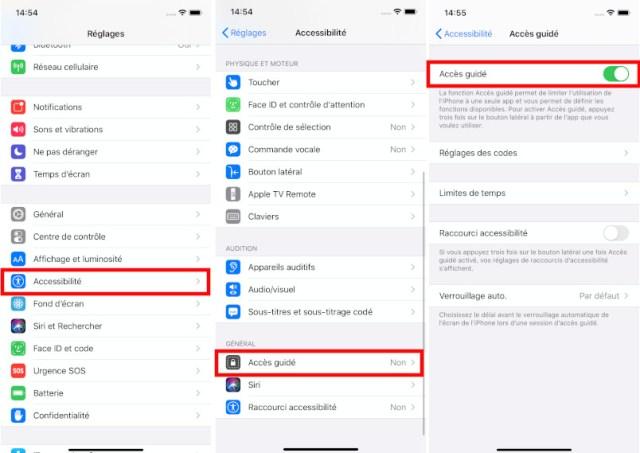 Comment activer Accès Guidé iPhone iPad Apple