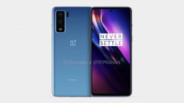 OnePlus Z render from last year with a single selfie camera