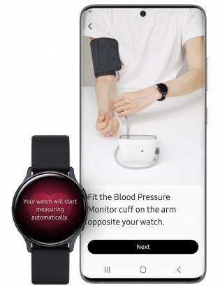 Blood Pressure monitoring with Samsung Health Monitor app