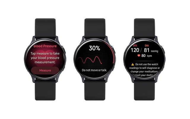 Samsung Health Monitor Application with Blood Pressure Measurement