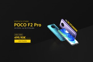 The Poco F2 Pro will be sold at the promised €500, but as a promotion