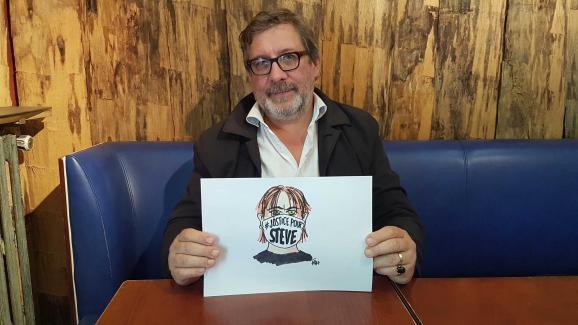 """Le dessinateur de presse Eric Chalmel, dit \""""Frap\"""", fait partie d\'un collectif informel mobilisé pour obtenir la vérité dans l\'\""""affaire Steve\""""."""