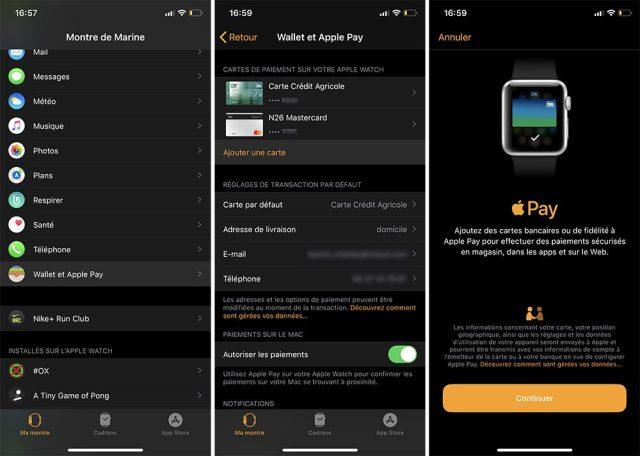iphone apple watch ajouter carte apple pay 2 Comment ajouter une carte et utiliser Apple Pay sur iPhone, Apple Watch, Mac et iPad