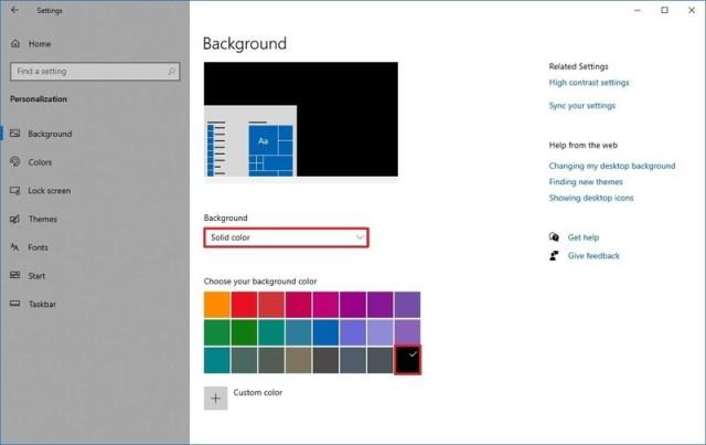 Windows 10 solid dark background