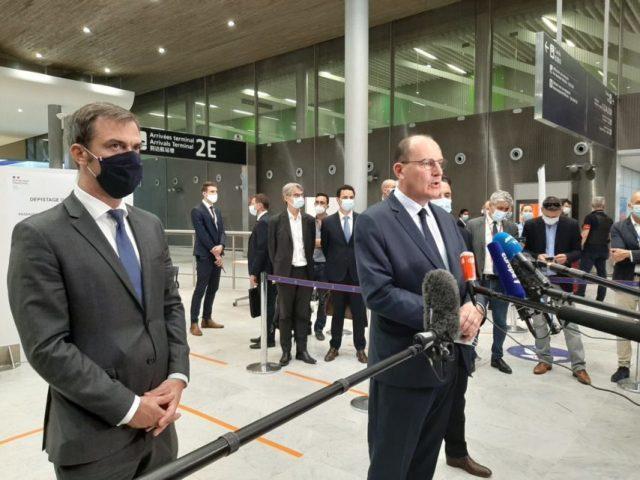Jean Castex, Premier ministre, s'est rendu à l'aéroport Charles de Gaulle ce vendredi 24 juillet 2020.