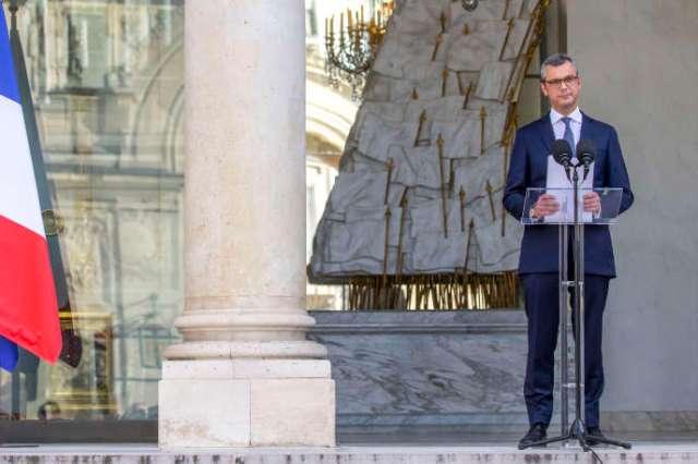 Alexis Kohler, secrétaire général de l'Elysée, annonce la composition du nouveau gouvernement à l'Élysée, lundi 6 juillet.