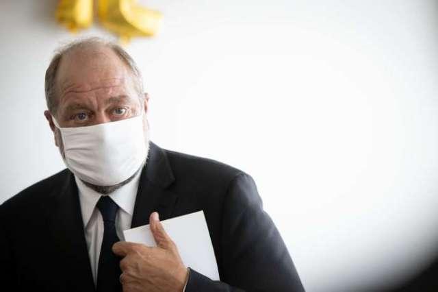 Eric Dupond-Moretti, lors de sa visite du tribunal de Paris, le 17 juillet 2020.
