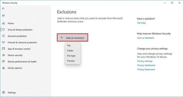Microsoft Defender Exclusion
