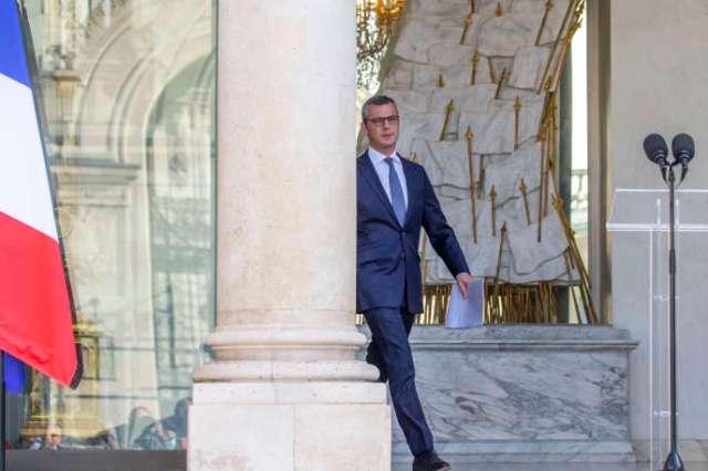 Alexis Kohler, secrétaire général de l'Elysée, annonce la composition du nouveau gouvernement au palais présidentiel à Paris, le 6 juillet.