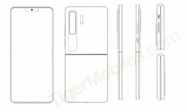 Huawei clamshell foldable revealed in patent