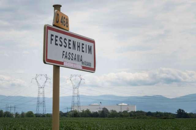 A l'entrée de Fessenheim, le 26 juin 2020.