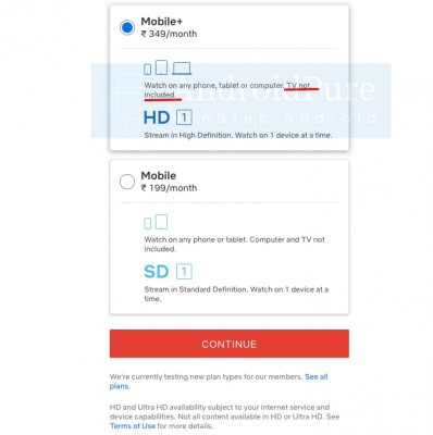 Netflix's new INR 350 Mobile+ plan with HD resolution