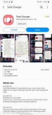 Samsung Good Lock Task Changer Update July 2020