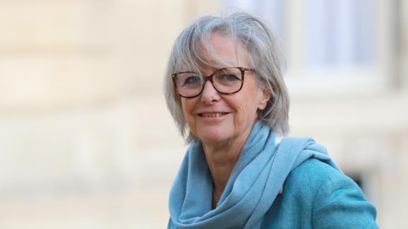 La secrétaire d\'Etat Sophie Cluzel lors de son arrivée à une conférence sur le handicap à l\'Elysée, le 11 février 2020.