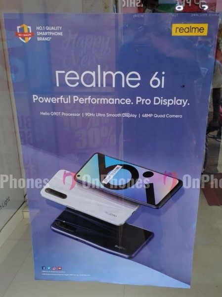 Realme 6s to debut in India as Realme 6i next week