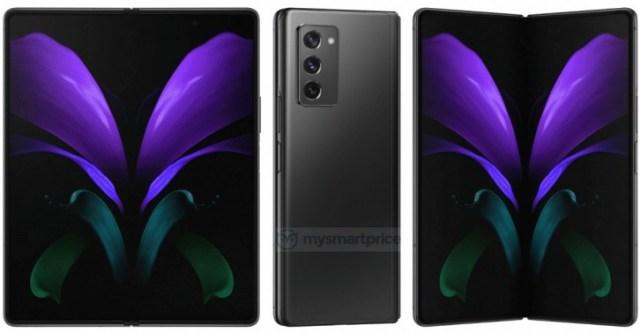 Samsung Galaxy Z Fold 2 5G press renders leak