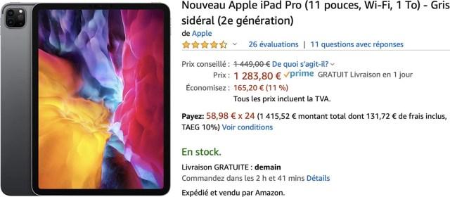 iPad Pro promo Amazon