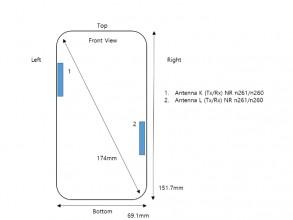 Samsung Galaxy A71s UW schematics: Dimensions