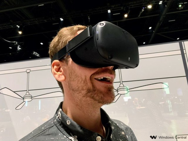 Oculus Quest on face