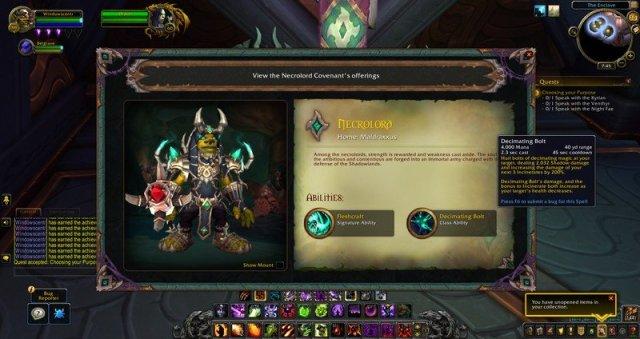 World Of Warcraft Shadowlands Covenant Choice