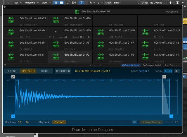 Drum Machine Designer in Logic Pro X