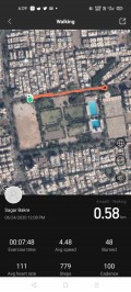 Workout data with GPS route tracking