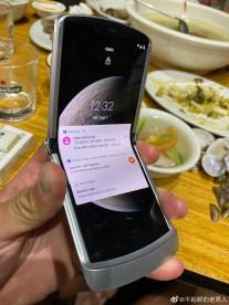 Motorola RAZR 5G in the hand
