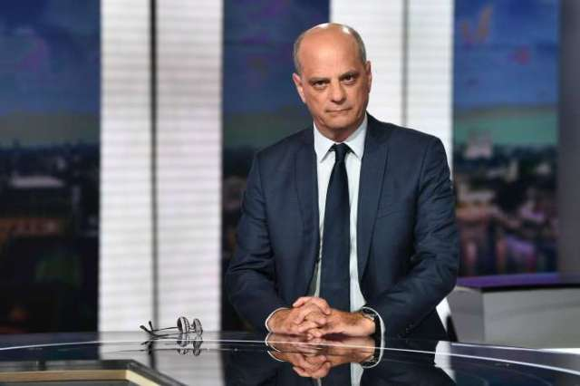 Le ministre de l'éducation Jean-Michel Blanquer, sur le plateau du «20 heures»de France 2,à Paris, le 20 août.