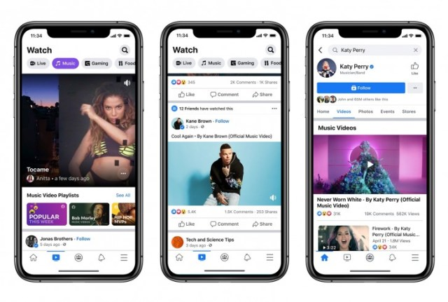 Facebook adds official music videos in the US