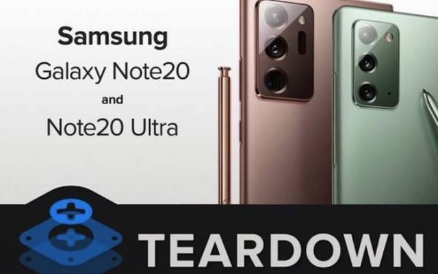 Samsung Galaxy Note 20 and Note 20 Ultra Teardown