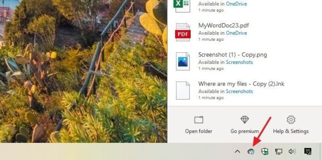 OneDrive syncing icon