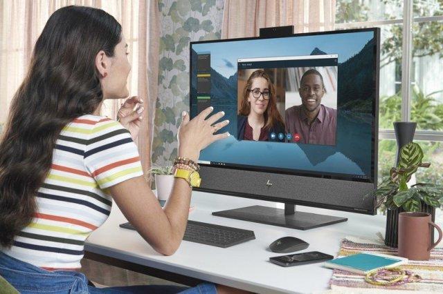 An HP All-in-One desktop.