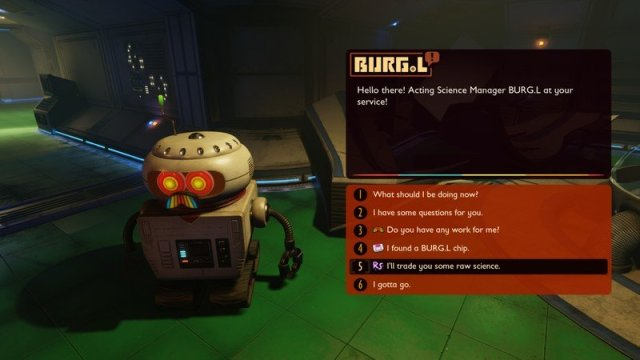 Grounded Burgl Upgrade Screen