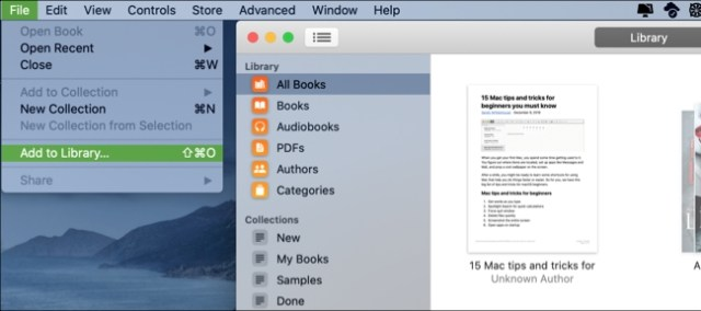 Books Add To Library-Mac