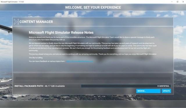 Microsoft Flight Simulator Content Manager