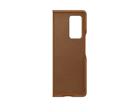 Samsung Galaxy Z Fold 2 Leather Cover Brown Inside