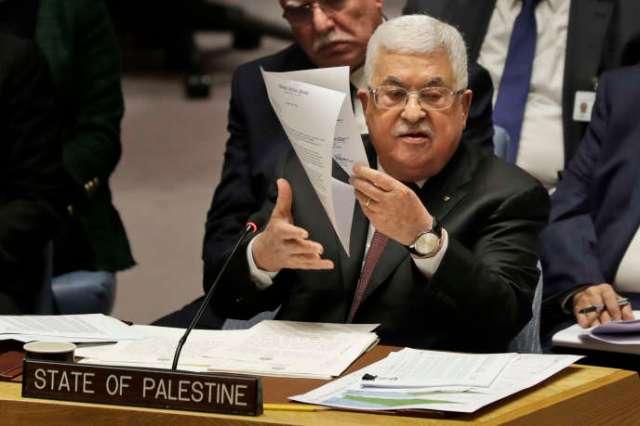 Le président de l'Autorité palestinienne Mahmoud Abbas, le 11 février 2020, au siège des Nations Unis (New York), aux Etats-Unis.
