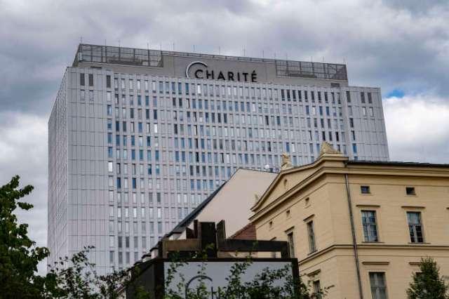 L'hôpital de la Charité, à Berlin, où est hospitalisé Alexeï Navalny, le 23 août 2020.