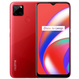 Realme C12 in Marine Blue and Coral Red