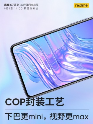 Realme X7 Pro will pack a 120Hz display with a punch hole in the top left and slim bezels on three sides