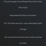 Screenshot of Deezer displaying lyrics to a currently playing song