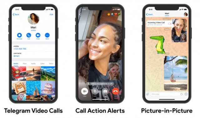 Telegram finally adds video call support to all its apps