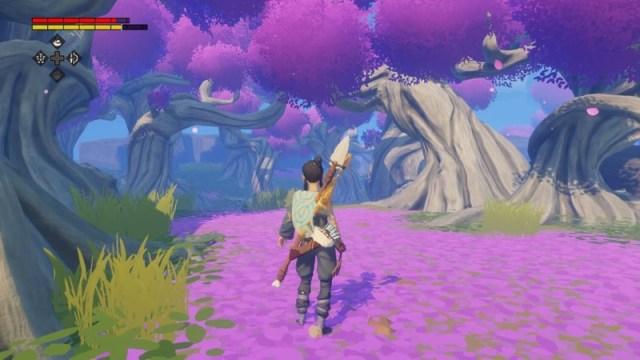 Windbound Purple Trees