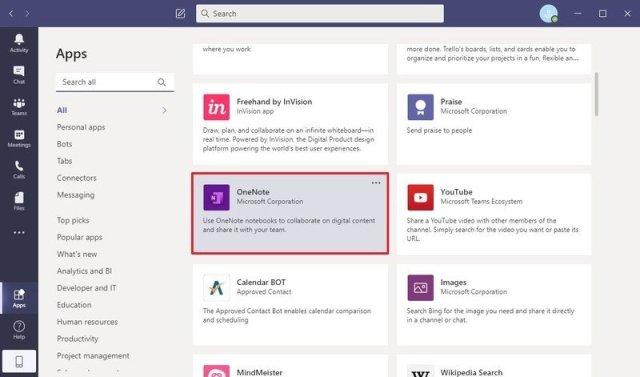 Microsoft Teams apps