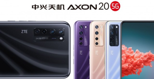 ZTE Axon 20 5G appears in three new colors in latest official poster