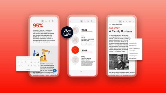 Adobe : Liquid Mode, un outil d'IA qui reformate automatiquement les PDF pour les petits écrans